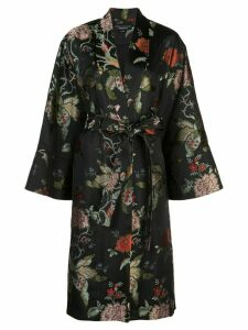 Sachin & Babi jacquard evening coat - Black