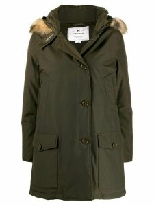 Woolrich short single-breasted coat - Green
