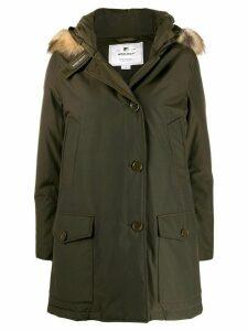 Woolrich short single-breasted coat - Green