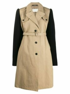 Maison Margiela contrast sleeves trench coat - Neutrals