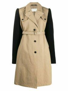 Maison Margiela contrast sleeves trench coat - Neutrals