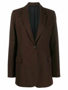 Joseph notched lapel blazer jacket - Brown