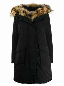 Woolrich hooded military parka coat - Black