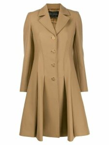 Versace Medusa pleated coat - Neutrals