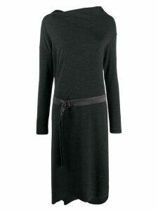 Brunello Cucinelli belted sweater dress - Grey
