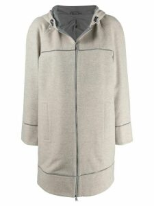 Brunello Cucinelli straight fit coat - Neutrals
