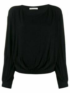 Stefano Mortari boat neck boxy blouse - Black