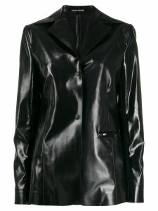 Kwaidan Editions patent effect blazer - Black