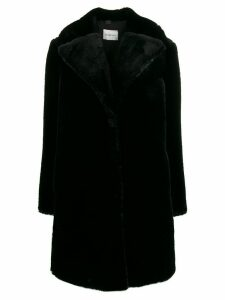 be blumarine oversized fit coat - Black