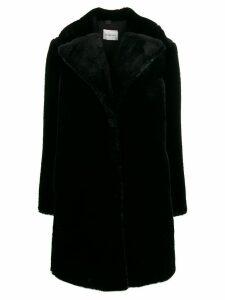 be blumarine oversized fit coat - Black
