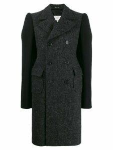 Maison Margiela contrast sleeves coat - Grey