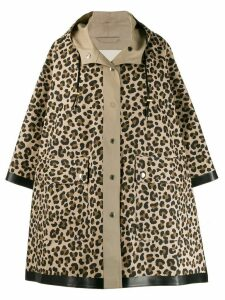 Mackintosh leopard print raincoat - Brown