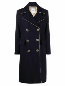 History Repeats military-style double-breasted coat - Blue