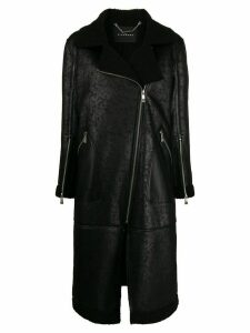 John Richmond straight fit zipped coat - Black