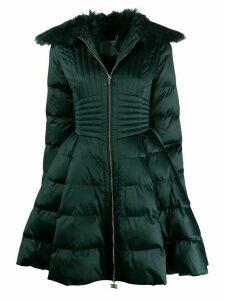 Elisabetta Franchi padded flare coat - Green