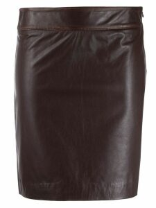 L'Autre Chose fitted short skirt - Red