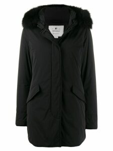 Woolrich fur trim parka coat - Black
