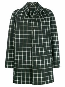 Jejia check print coat - Green