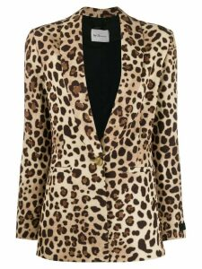 be blumarine fitted leopard print blazer - Brown