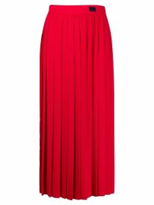 be blumarine high waisted pleated skirt - Red