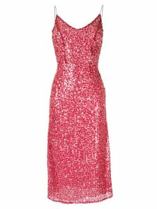 Walk Of Shame sequin-embellished slip dress - Red