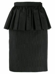 MSGM high-waisted peplum skirt - Black