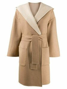 Brunello Cucinelli belted wrap coat - Neutrals