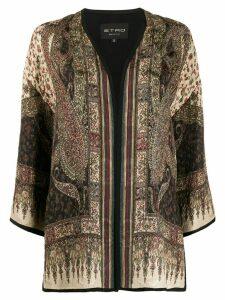 Etro paisley print kimono - Neutrals