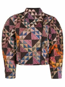 Isabel Marant patchwork quilted jacket - Purple