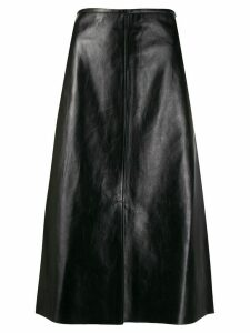 Joseph A-line leather skirt - Black