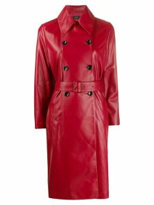 Joseph double-breasted peacoat - Red