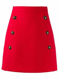 Dolce & Gabbana DG button skirt - Red
