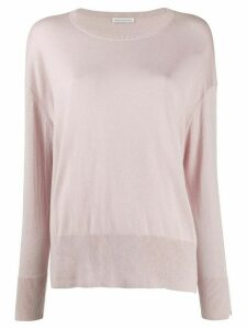 Stefano Mortari boat neck slouchy sweater - Pink