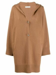 Fabiana Filippi hooded loose-fit cardigan - Brown