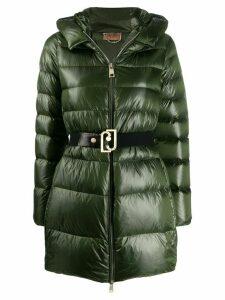 LIU JO belted down parka coat - Green