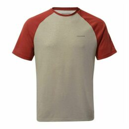 NosiLife Anello Short-Sleeved T-Shirt - Soft Grey Marl / Firth Red