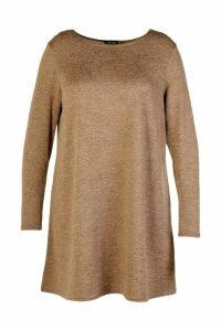 Womens Plus Swing Dress - beige - 20, Beige