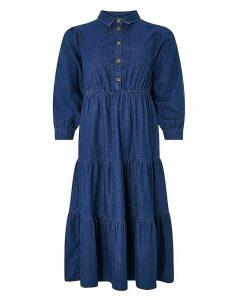 Monsoon Tina Tiered Denim Dress