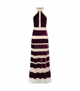 Velvet Pearl Gown