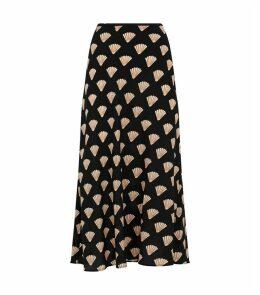 Silk Shell Midi Skirt