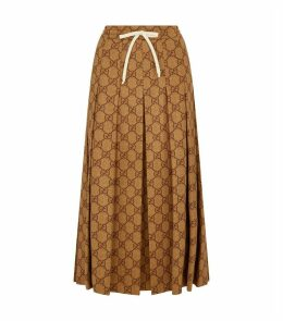 GG Supreme Drawstring Midi Skirt