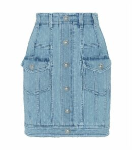 Distressed Mini Denim Skirt