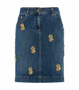 Dollar Jean Skirt
