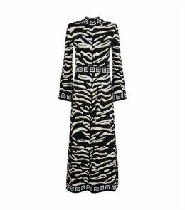 Animal Print Knit Maxi Dress