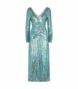 Sequin Stripe Emmy Midi Dress