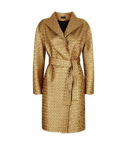 Fish Scale Jacquard Coat