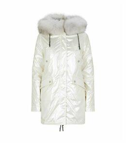 Fur-Trim Parka Jacket