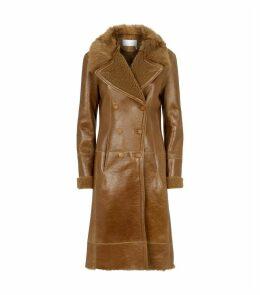 Reversed Shearling Coat