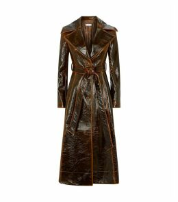 Rhea Laminated Wool Trench Coat