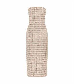 Tweed Strapless Dress